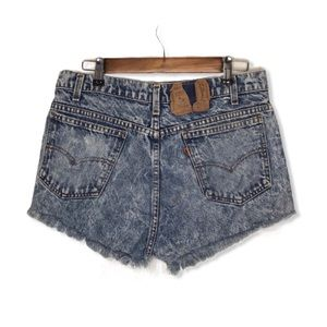 Vintage Levi's Orange Tab Acid Wash Denim Shorts